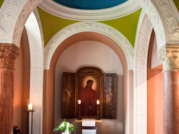 Innenansicht der Libertas-Kapelle